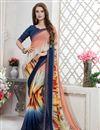 image of Print Designs Occasion Wear Saree In Multi Color Georgette