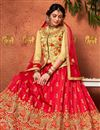 photo of Function Wear Fancy Art Silk Embroidered Lehenga Choli In Red