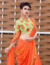 photo of Orange Color Art Silk Fancy Plain Daily Wear Saree