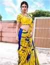 photo of Mustard Color Art Silk Festive Wear Printed Saree
