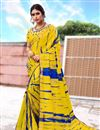 image of Mustard Color Art Silk Festive Wear Printed Saree