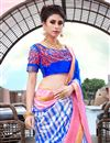photo of Fancy Blue Color Art Silk Daily Wear Printed Saree