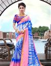 image of Fancy Blue Color Art Silk Daily Wear Printed Saree