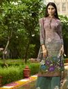 image of Lavender Crepe Fabric Function Wear Digital Printed Palazzo Style Suit