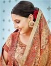 photo of Chikoo  Printed On Banarasi Silk Occasion Wear Saree With Enchanting Blouse