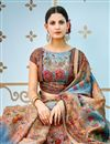 photo of Printed On Multi Color Party Wear Saree In Banarasi Silk Fabric With Beautiful Blouse