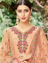 photo of Salmon Designer Embroidered Salwar Kameez In Net Fabric