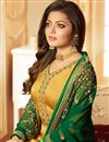 photo of Drashti Dhami Mustard Georgette Designer Churidar Salwar Kameez With Embroidery