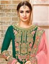 photo of Georgette Fabric Green Embellished Palazzo Dress For Functions