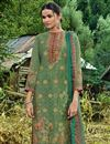 photo of Fancy Fabric Party Style Green Palazzo Dress
