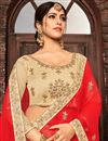 photo of Embroidery Work On Cream Designer 3 Piece Lehenga Choli In Fancy Fabric