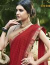 photo of Chiffon Fabric Red Regular Wear Saree With Print Work