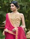 photo of Print Designs On Chiffon Casual Wear Saree In Dark Pink Color