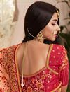 photo of Art Silk Fabric Party Wear Saree In Peach With Embroidery Work