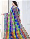 photo of Casual Wear Multi Color Designer Weaving Work Saree In Art Silk