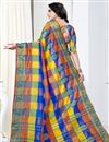 photo of Designer Casual Wear Art Silk Saree In Multi Color With Weaving Work