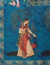 picture of Art Silk Fancy Dupatta In Sky Blue With Digital Print
