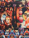 picture of Digital Print Black Art Silk Fancy Dupatta