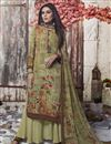 image of Fancy Crepe Fabric Casual Style Sea Green Printed Palazzo Suit