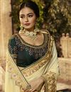 photo of Beige Color Designer Saree In Cotton Fabric With Embroidery Designs And Attractive Blouse
