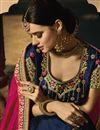 photo of Jacquard Silk Fabric Dark Pink Color Embroidered Designer Saree With Designer Blouse