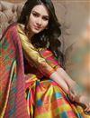 photo of Multi Color Fancy Art Silk Puja Wear Digital Printed Saree