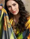photo of Trendy Art Silk Navy Blue Puja Wear Digital Printed Saree