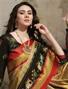 photo of Fancy Beige Puja Wear Art Silk Digital Printed Saree