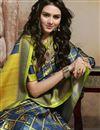 photo of Puja Wear Trendy Art Silk Digital Printed Saree In Navy Blue