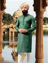image of Eid Special Mens Festive Wear Kurta Pyjama In Teal