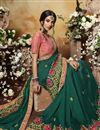 photo of Festive Special Teal Color Designer Saree In Art Silk Fabric