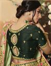 photo of Khaki Color Art Silk Fabric Function Wear Saree