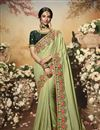 image of Khaki Color Art Silk Fabric Function Wear Saree