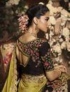 photo of Mustard Color Art Silk Fabric Party Wear Saree