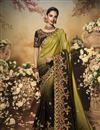 image of Mustard Color Art Silk Fabric Party Wear Saree