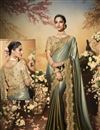 image of Festive Special Grey Color Traditional Saree In Fancy Fabric