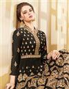 photo of Georgette Black Designer Anarkali Salwar Kameez With Embroidery