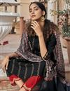 photo of Black Color Party Wear Embroidered Readymade Straight Cut Suit In Rayon Fabric