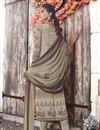 photo of Crepe Fabric Printed Casual Wear Straight Cut Dress In Cream