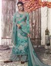 image of Crepe Fabric Casual Wear Printed Grey Palazzo Suit