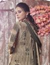 photo of Beige Casual Wear Crepe Fabric Printed Straight Cut Suit
