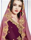 photo of Burgundy Color Designer Function Wear Georgette Embroidered Floor Length Anarkali Dress