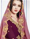 photo of Burgundy Color Designer Function Wear Georgette Embroidered Floor Length Anarkali Dress