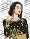 photo of Embroidered Black Designer Function Wear Long Length Anarkali Suit In Georgette