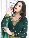 photo of Embroidered Designer Function Wear Georgette Long Length Anarkali Suit In Teal
