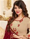 photo of Ayesha Takia Cream Georgette Occasion Wear Suit With Embroidery