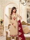 image of Ayesha Takia Cream Georgette Occasion Wear Suit With Embroidery