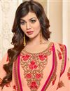 photo of Ayesha Takia Peach Embroidered Function Wear Dress In Georgette