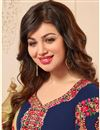 photo of Ayesha Takia Navy Blue Georgette Party Wear Embroidered Salwar Suit