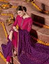 photo of Rani Color Embroidered Georgette Party Wear Straight Cut Salwar Kameez